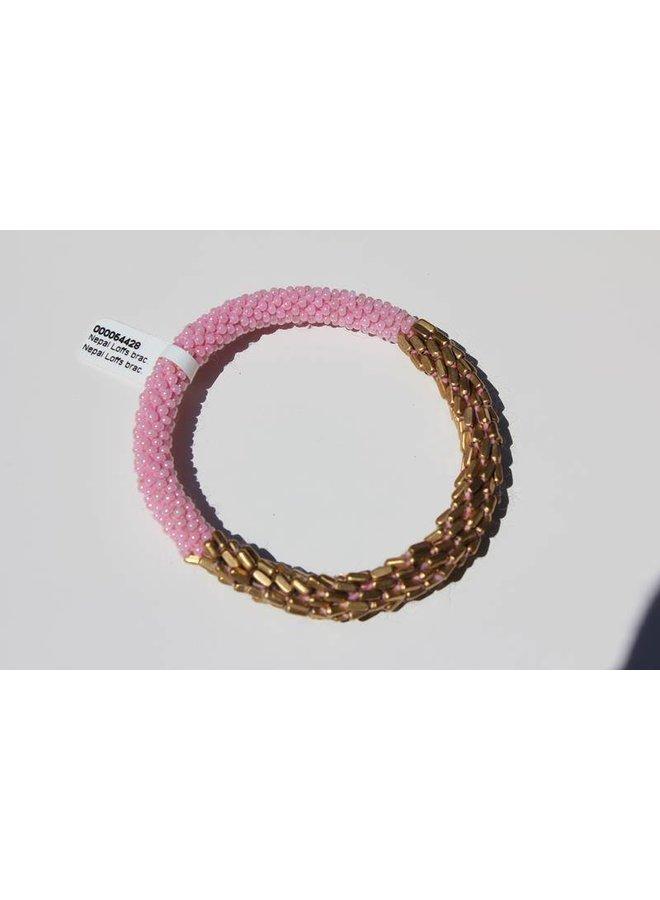 Loffs Nepal Bracelet pink & gold scales