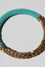 Loffs Loffs Nepal Bracelet turquoise & golden scales