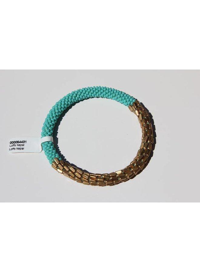 Loffs Nepal Bracelet turquoise & golden scales