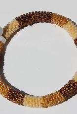 Loffs Loffs Nepal Bracelet gold, brown & white
