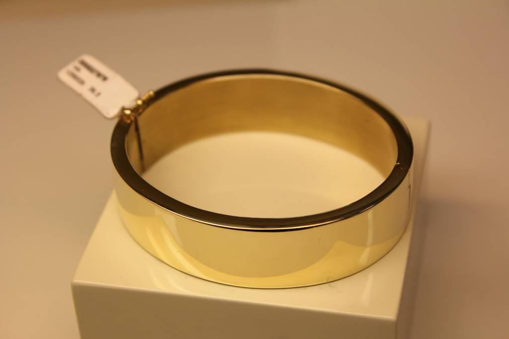 14k gouden slavenband recht 17mm