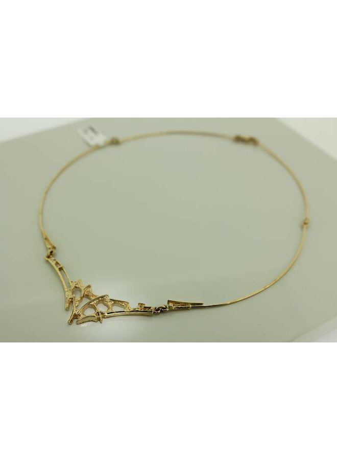 14k design collier/spang