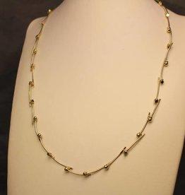 14k gouden bicolor design collier