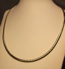 14k gouden bicolor spang/choker