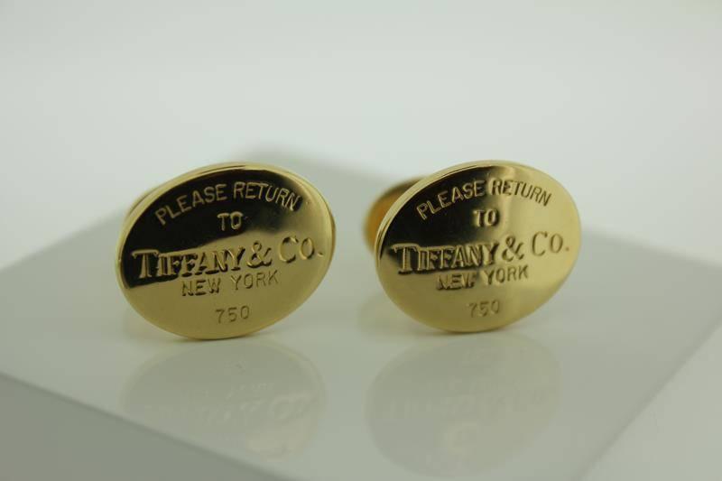 18 carat gold cufflinks Tiffany & Co New York