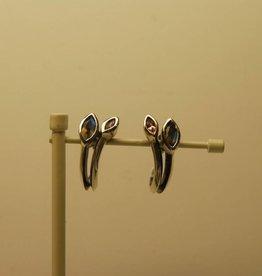 Rabinovich Rabinovich 53205013 oorknoppen labradoriet toermalijn