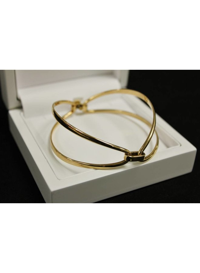 14k rose gouden slaven armband Hans Hansen