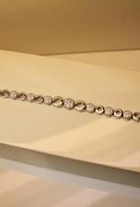 Silver bracelet set with zirconia's