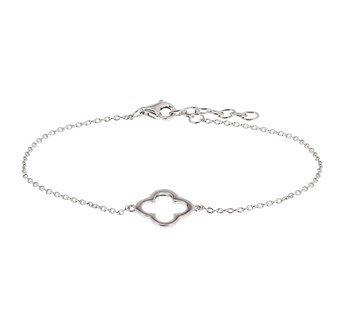 Silver bracelet with flower