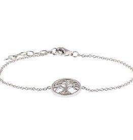 Zilveren armbandje levensboom