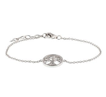 Silver bracelet with tree of life