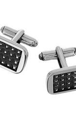 Silver Cufflinks rectangular polished& oxidised