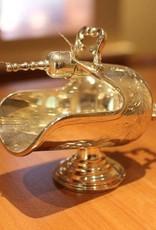 Silver sugar bowl with scoop