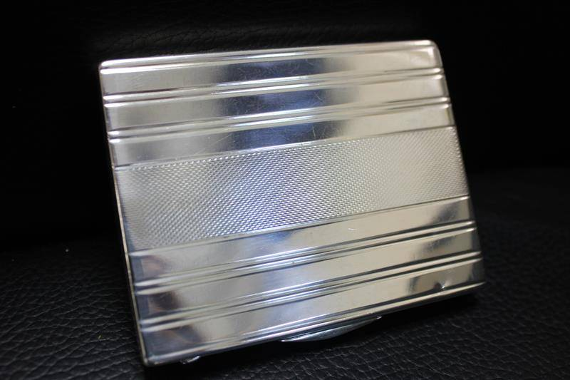 Silver sigarette case Hungarian