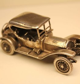 Silver miniature historic sports car