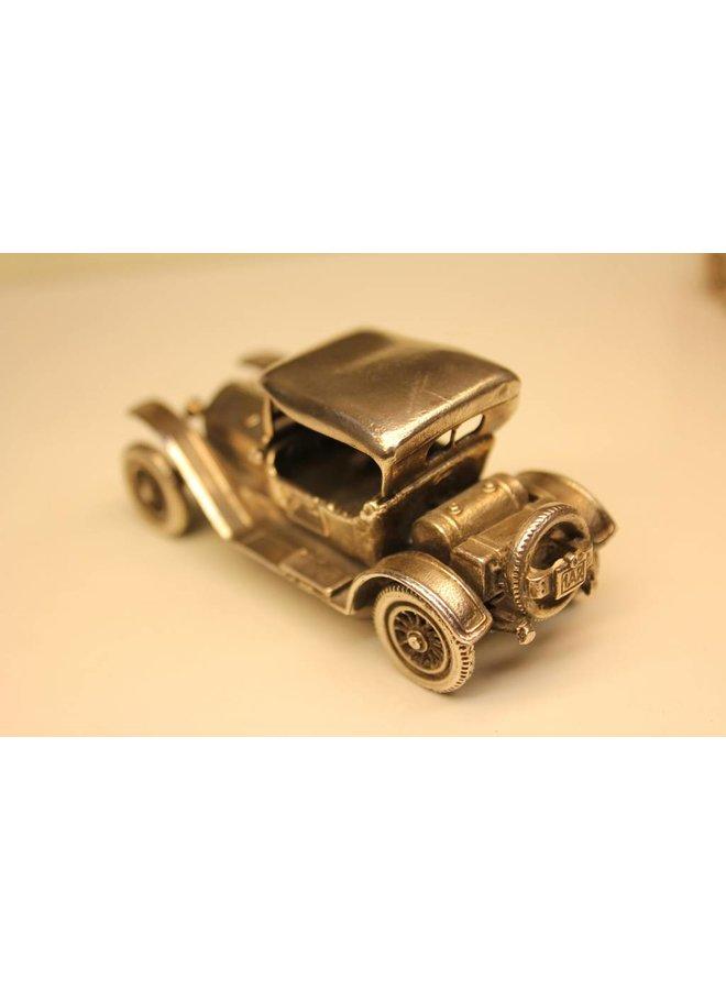 Silver miniature historic sports car