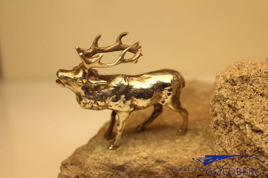 Silver miniature reindeer