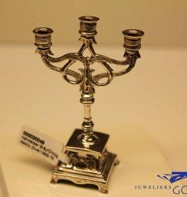 Silver miniature candelabra