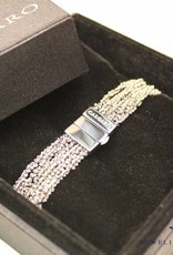 Calgaro Calgaro armband zwart geweven zilver