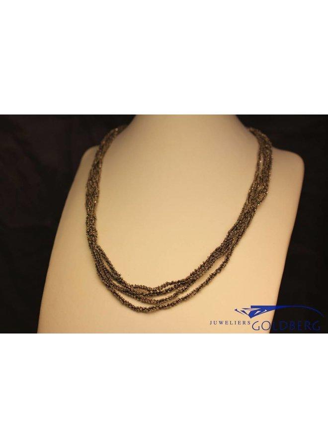 Calgaro Necklace woven silver black