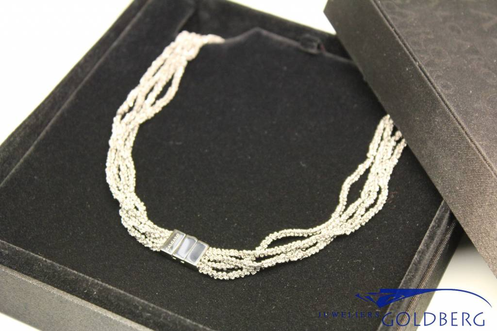 Calgaro Calgaro Necklace woven silver black