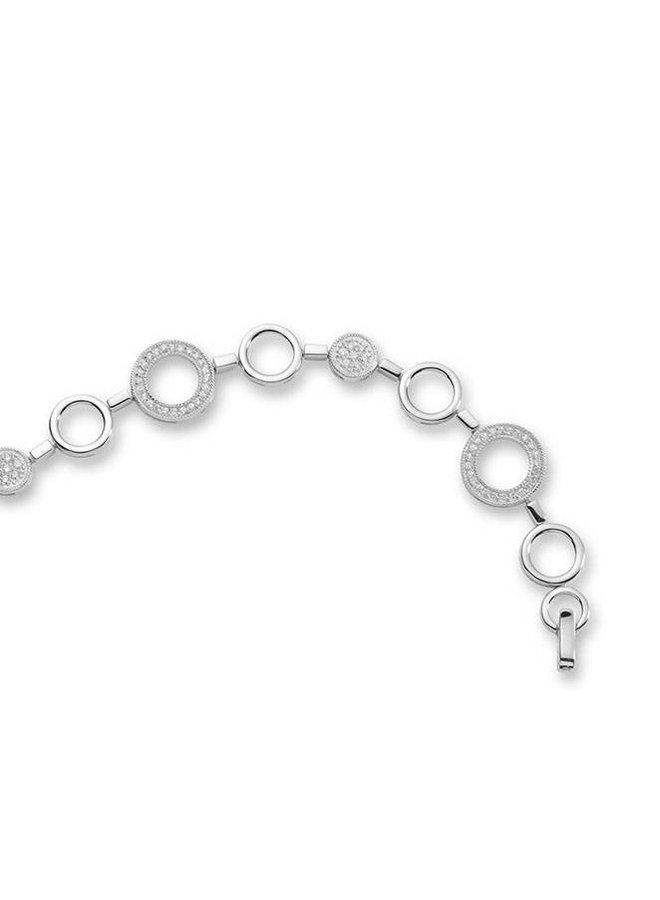 Zilveren fantasie armband met zirconia
