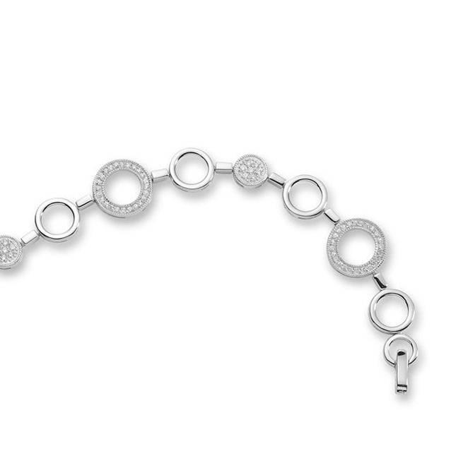 Silver fantasy bracelet with zirconia's