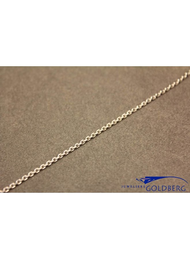 silver anchor chain necklace facetted 1,6mm