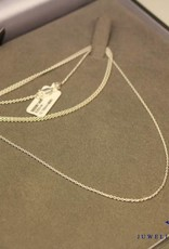 Silver anchor chain necklace 1,4mm