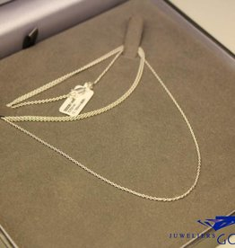 Zilveren anker collier 1,4mm