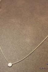 witgouden collier gezet met 0.06ct briljant