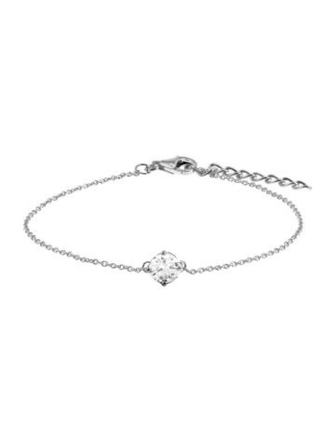 Silver bracelet  with 5,5mm zirconia