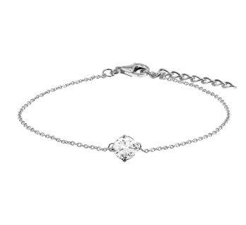Silver bracelet  with 5,5mm zirconia