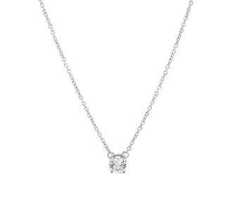 Zilveren mini collier met zirconia