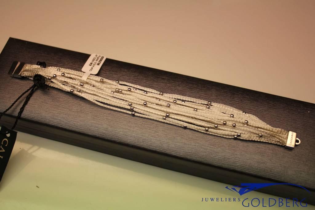 Calgaro Calgaro armband wit geweven
