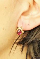 14k gouden oorbellen met amethist