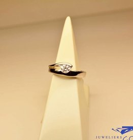 Silver fantasy solitair ring with zirconia