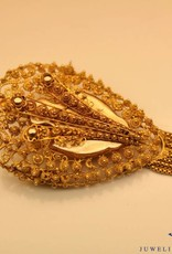 Antique 14 carat gold brooch from period 1853-1906