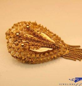 Antieke 14k gouden broche uit periode 1853-1906