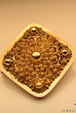 Antieke 14k gouden vierkanten broche uit periode 1853-1906