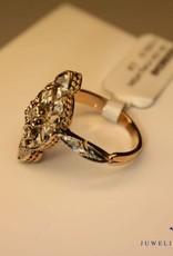 18k gouden art deco ring diamant