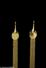 Sanjoya Stylish long goldplated silver earrings, Sanjoya
