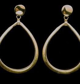 Sanjoya Grote vergulde zilveren druppel oorbellen, Sanjoya