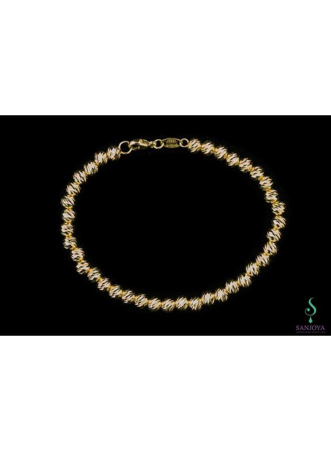 Italian gold-plated silver bracelet