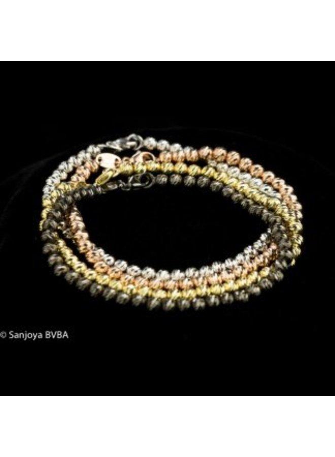 Italian grey silver bracelet, Sanjoya