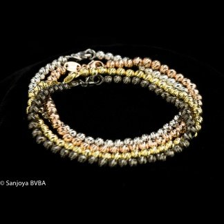 Sanjoya Italian grey silver bracelet, Sanjoya