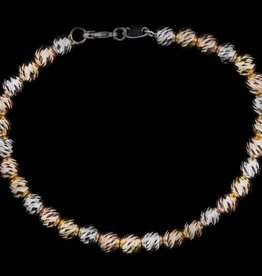 Sanjoya Italian 3-color silver design bracelet, Sanjoya