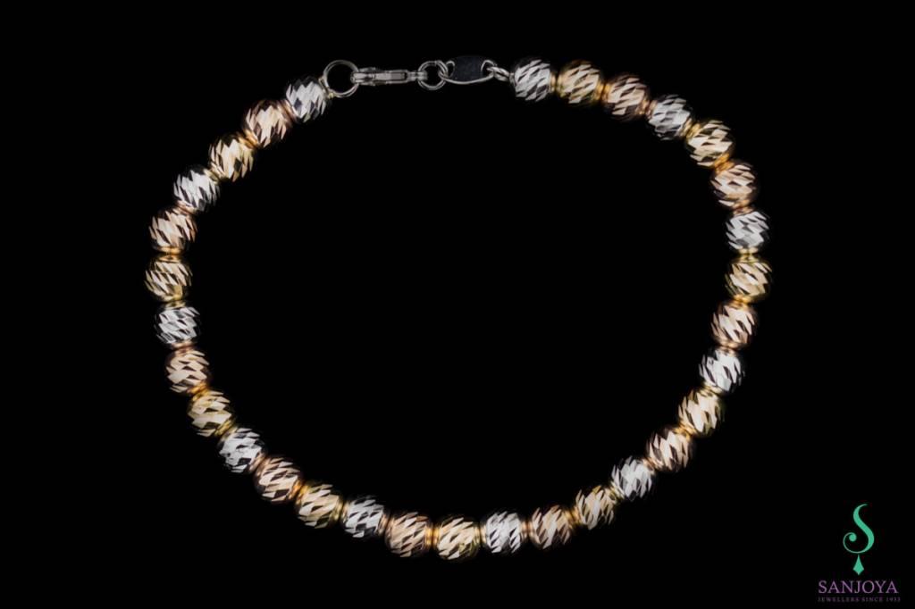 Sanjoya Italiaans armbandje driekleuren zilver, Sanjoya