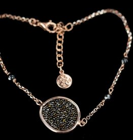 Sanjoya Rosé silver bracelet with hematite, Sanjoya