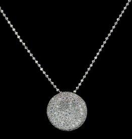 Sanjoya Elegant silver necklace with zirconia pendant, Sanjoya